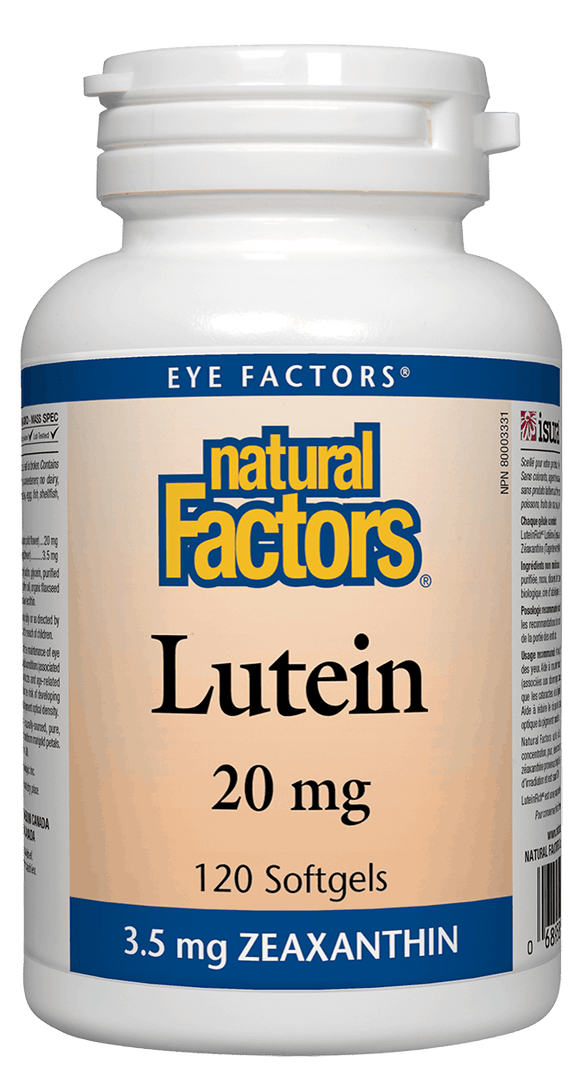 Natural Factors Lutein 20 mg,  120 softgels