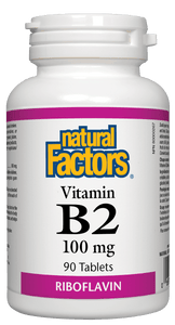 Natural Factors Vitamin B2 100mg 90 tablets