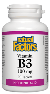 Natural Factors, Vitamin B3, 100 mg, 90 tablets