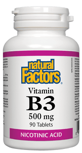 Natural Factors Vitamin B3 500 mg 90 tablets