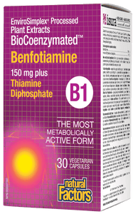Natural Factors Benfotiamine 150 mg plus Thiamine 30 veg cap