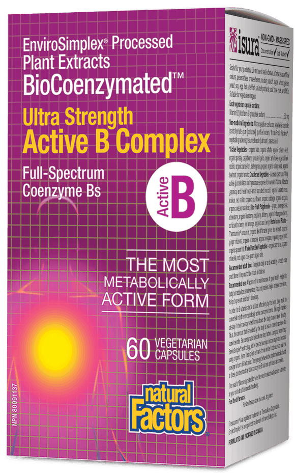Natural Factors BioCoenzymated Active B Complex 60 veg capsules