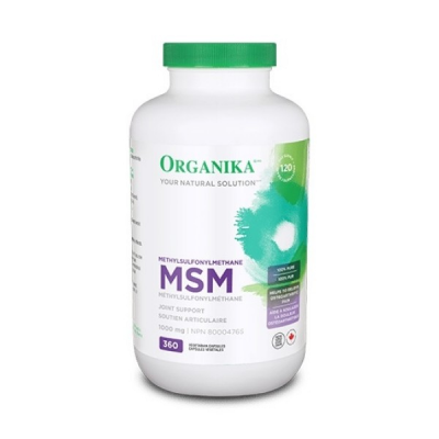 Organika MSM (Methyl-Sulfonyl-Methane), 1000 mg, 360 capsules