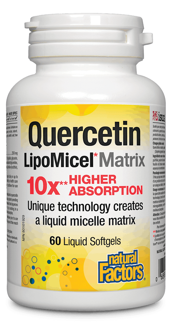 Natural Factors Quercetin LipoMicel Matrix 60 softgels