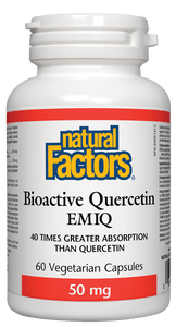 【clearance】Natural Factors, Bioactive Quercetin EMIQ, 50mg, 60 vegetarian capsules EXP:2022/03