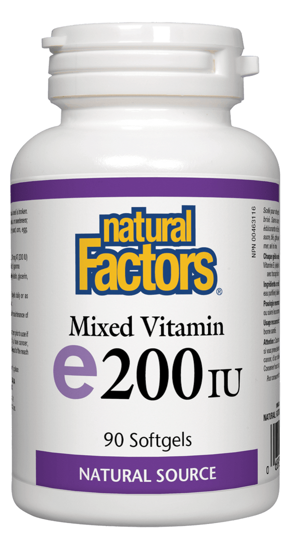 Natural Factors Mixed Vitamin E 200iu 90 softgels