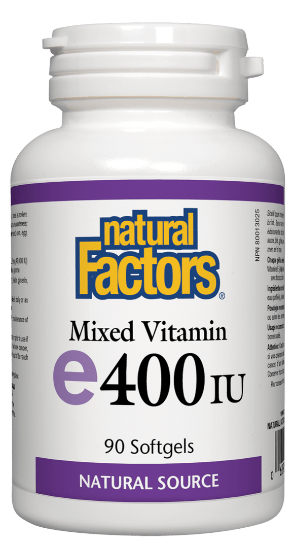 Natural Factors Vitamin E 400IU, 90 softgels