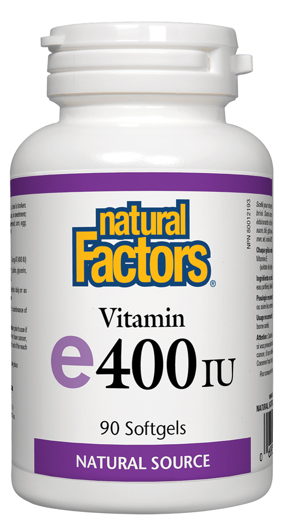 Natural Factors Vitamin E, 400IU, 90 Softgels
