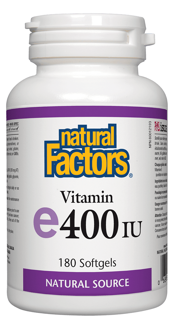 Natural Factors Vitamin E 400 iu d'alpha tocopherol