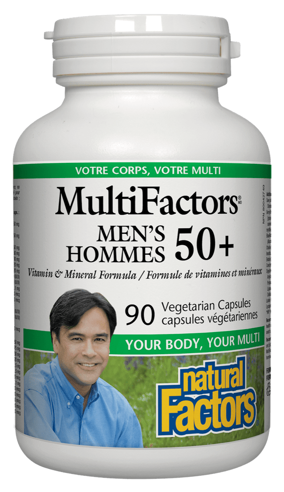 Natural Factors MultiFactors Men's 50+, 90 VegiCap