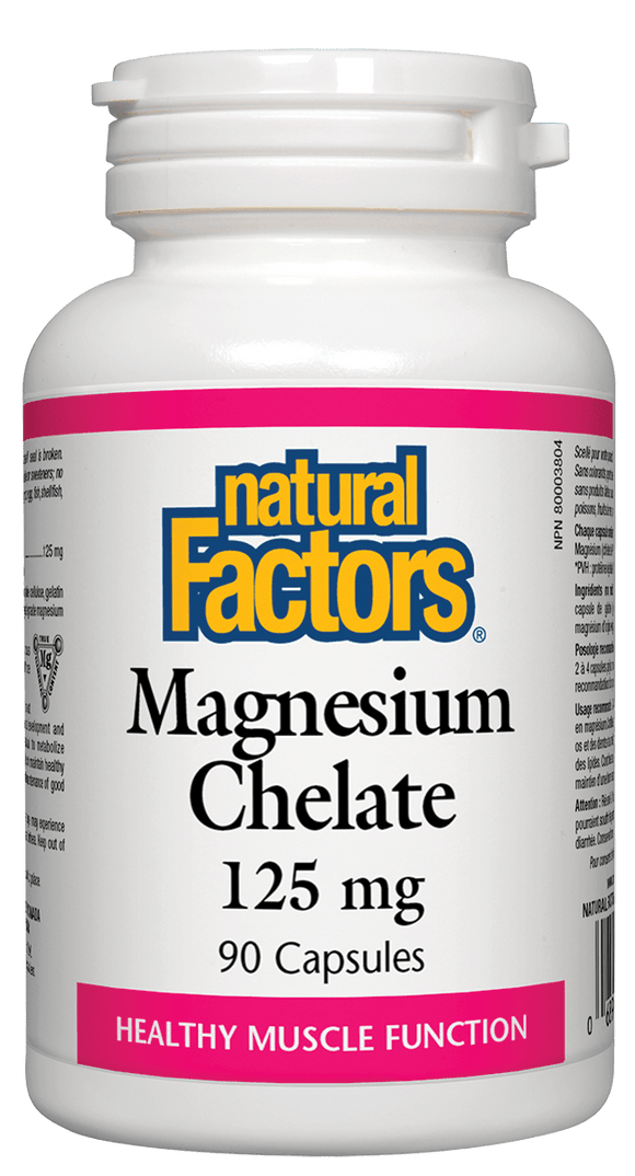 Natural Factors Magnesium Chelate 125mg 90 capsules