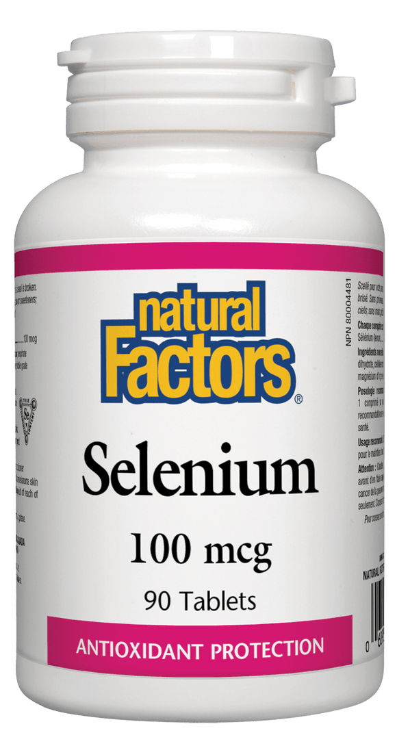 Natural Factors Selenium, 100 mcg, 90 Tablets