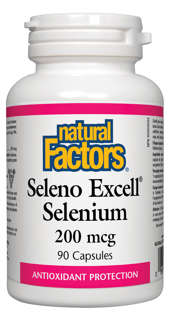 Natural Factors SelenoExcell™ Selenium 200mcg, 90 capsules