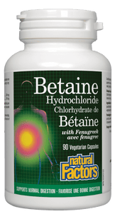 Natural Factors Betaine Hydrochloride, 90 Vegetarian Capsules