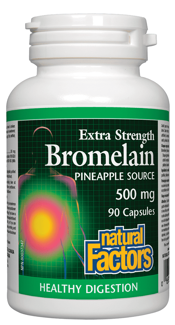 Natural Factors Bromelain, Pineapple Source, 500 mg, 90 caps