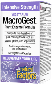 Natural Factors Vegetarian MacroGest™Intensive Strength, 60 veg capsules