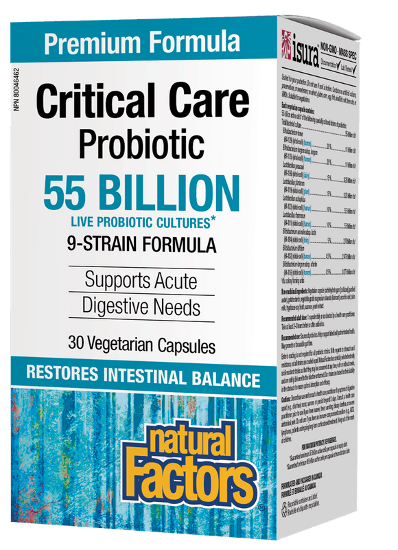 Natural Factors Critical Care Probiotic, 55 Billion Active Cells , 30vgcaps