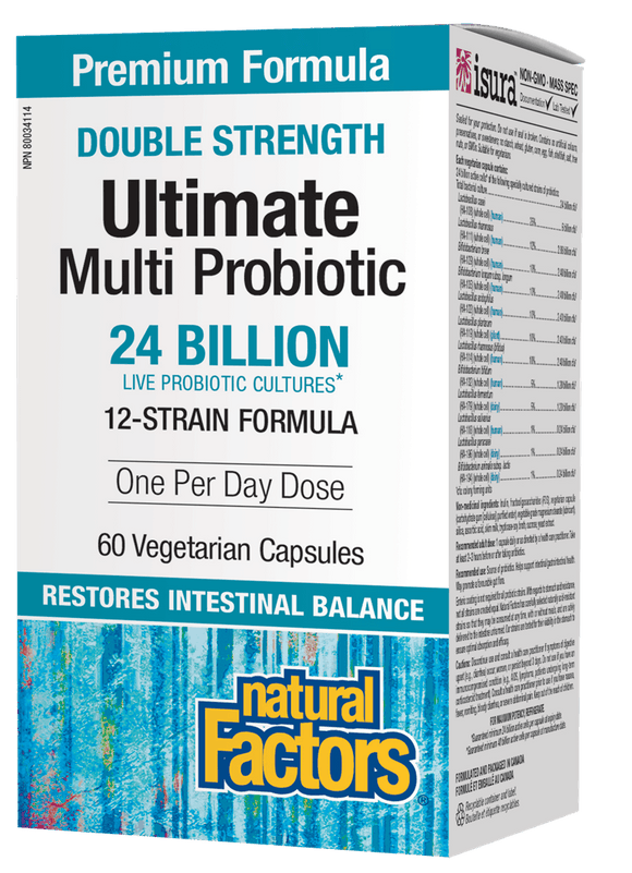Natural Factors Double Strength Ultimate Multi Probiotic, 60 caps