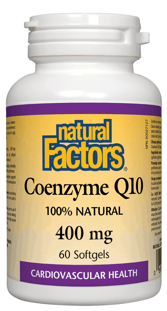 Natural Factors Coenzyme Q10, 400 mg, 60 softgels
