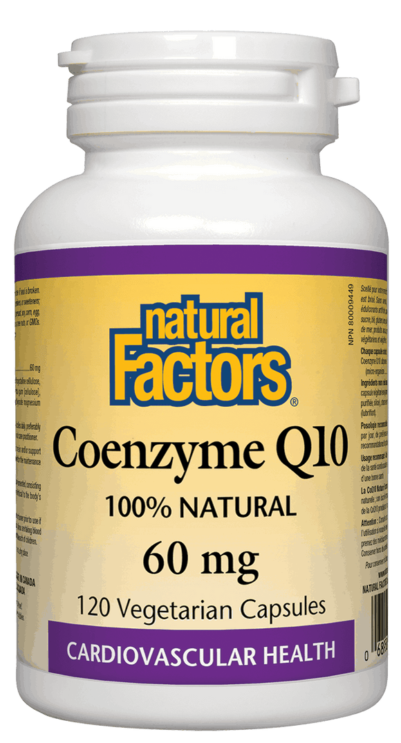 Natural Factors Coenzyme Q10, 60 mg, 120 Vegetarian Caps
