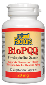 Natural Factors BioPQQ Pyrroloquinoline Quinone 20 mg