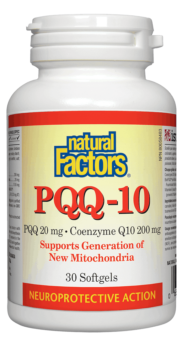 Natural Factors PQQ-10 Ubiquinol, 30 softgels