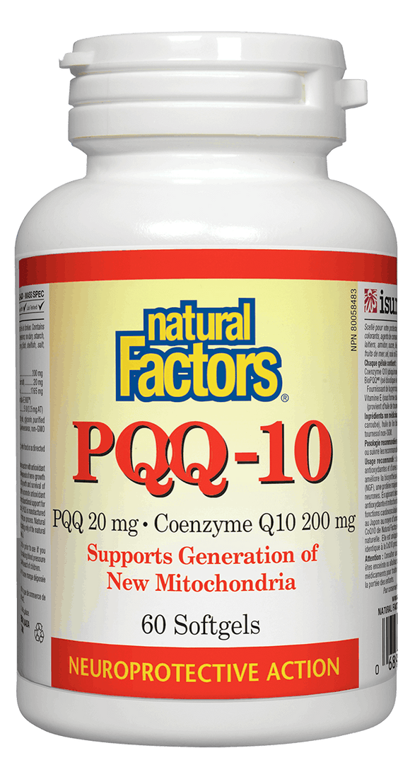 Natural Factors PQQ-10 Ubiquinol, 60 softgels