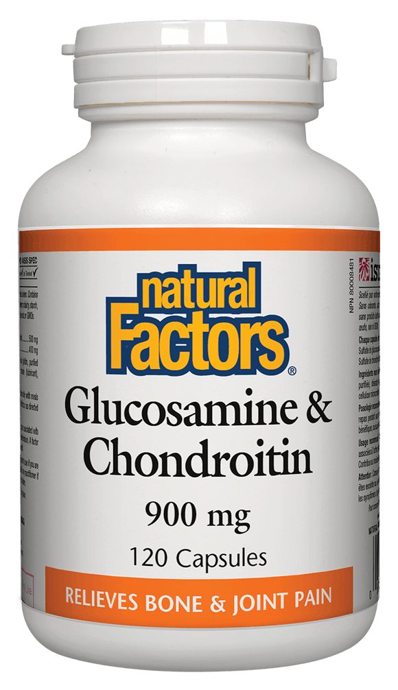 Natural Factors Glucosamine and Chondroitin Sulfates 900mg, 120 capsules