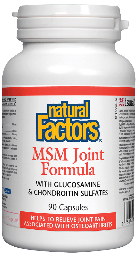 Natural Factors MSM Joint Formula (MSM/GLS/CHON), 90 caps