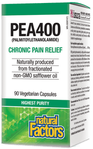Natural Factors PEA400 Palmitoylethanolamide 90 Vegetarian capsules