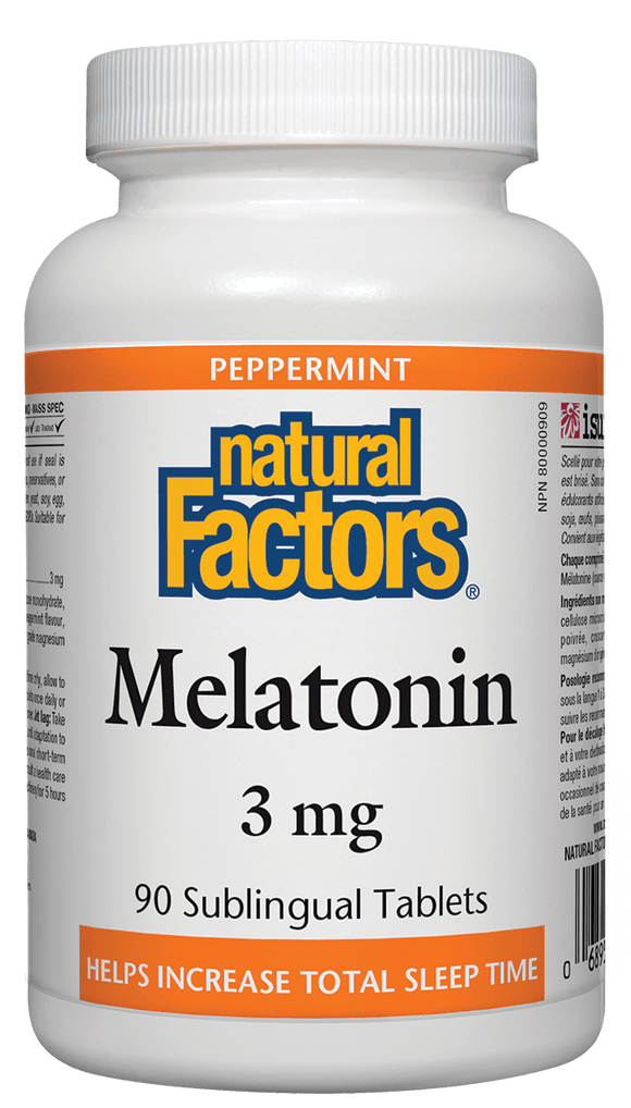 Natural Factors Melatonin 3 mg, 90 Sublingual Tablets