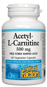 Natural Factors Acetyl-L-Carnitine 500mg, 60 vegicaps