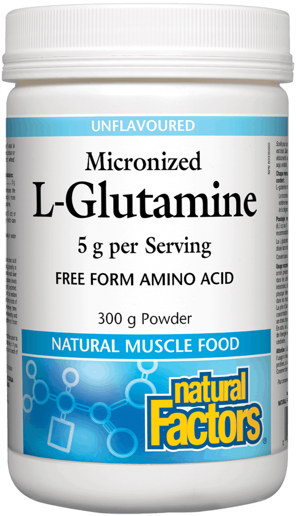 Natural Factors- L-Glutamine 300g Powder, Unflavoured