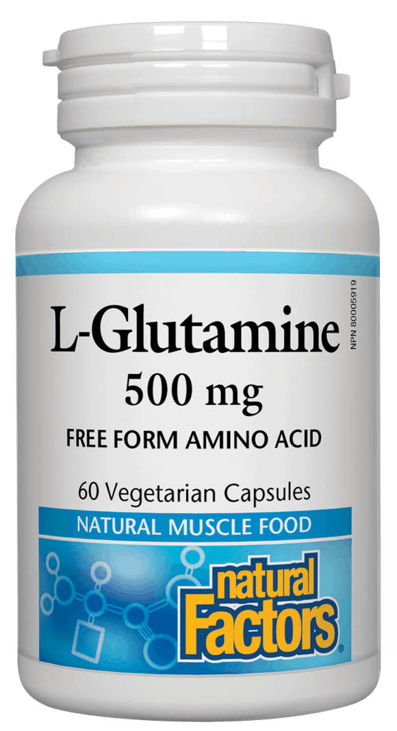 Natural Factors- L-Glutamine 500 mg, 60 capsules