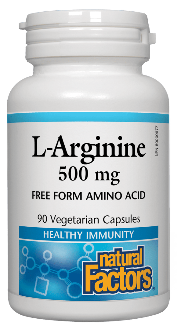 Natural Factors L-Arginine, 500mg, 90 cap