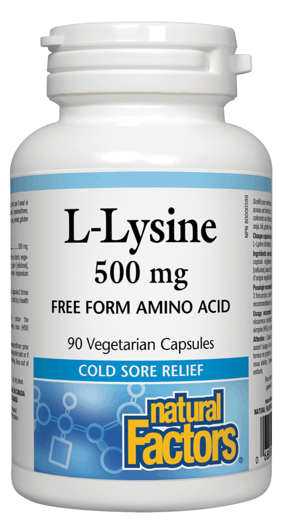 Natural Factors L-Lysine 500 mg 90 Veg capsules