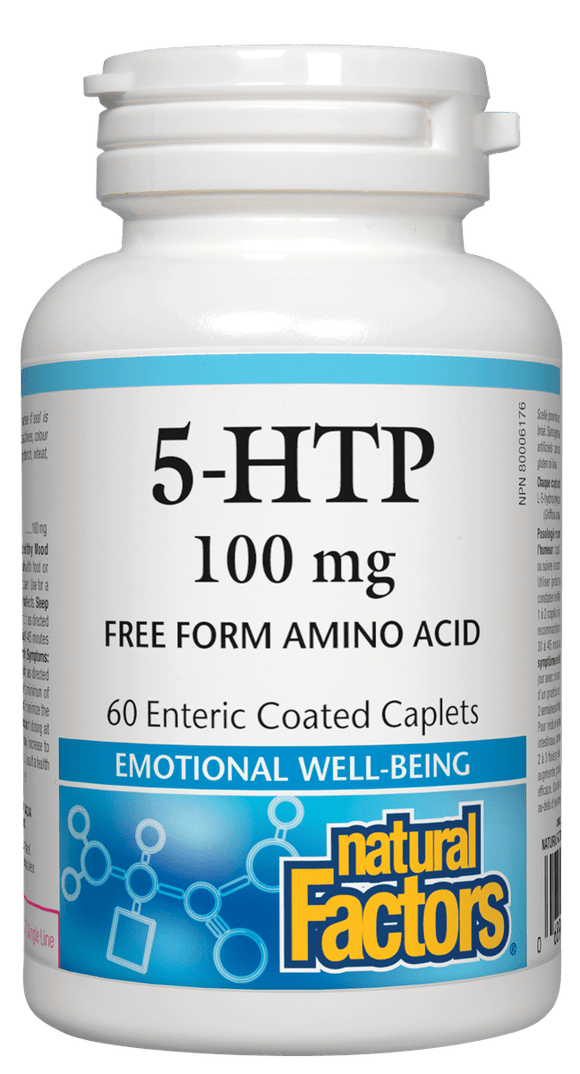 Natural Factors 5-HTP 100mg, 60 caplets