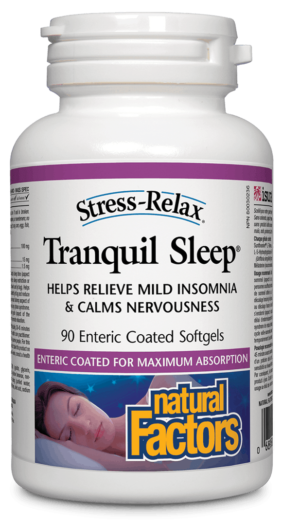 Natural Factors Stress-Relax™ Tranquil Sleep, 90 Enteric-coated softgels