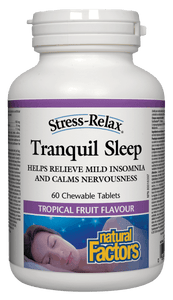 Natural Factos Stress-Relax™ Tranquil Sleep, 60 chewable tabs