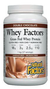 Natural Factors Whey Factors™ High Protein Formula - Double Chocolate Flavour
