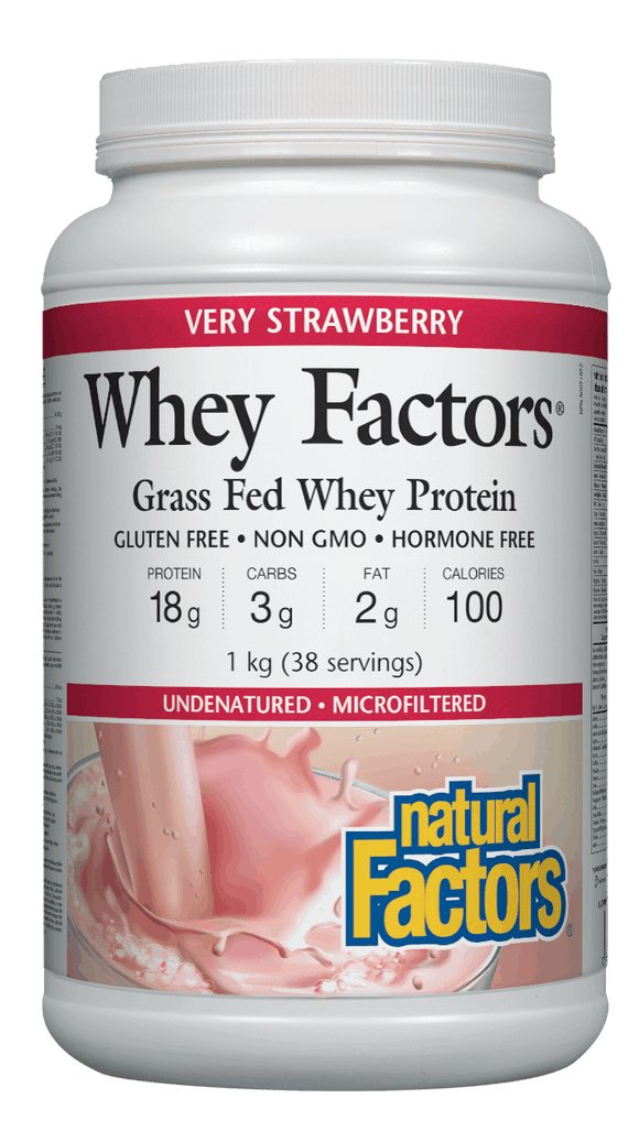 Natural Factors Whey Factors™ High Protein Formula - Strawberry Flavour