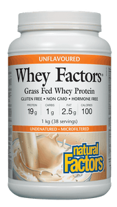Natural Factors Whey Factors™ High Protein Formula - Unflavoured
