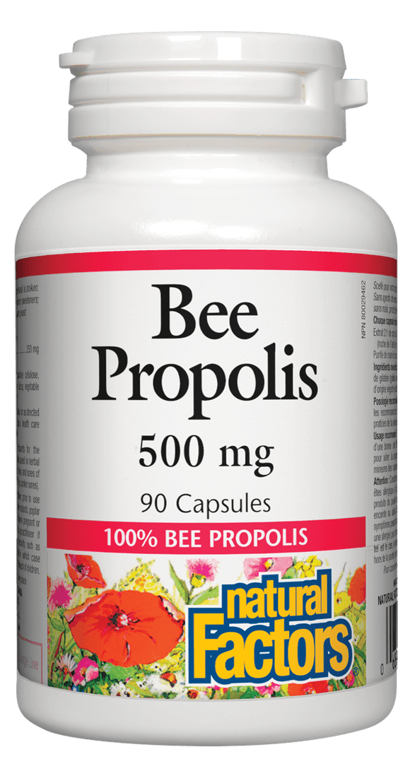 Natural Factors Bee Propolis Extract, 500 mg, 90 caps