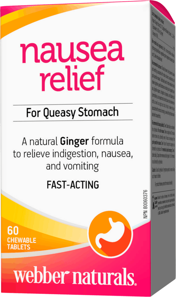 Webber Naturals Organic Ginger 500 mg, 60 Chewable Tablets