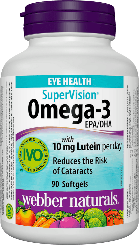 Webber Naturals Omega-3 Supervision with 10mg Lutein, 90 softgels