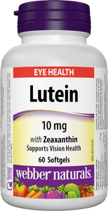 Webber Naturals Lutein (10 mg) with Zeaxanthin, 60sgs