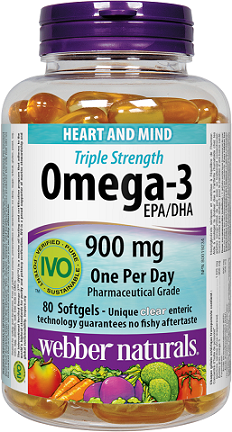 Webber Naturals Omega-3 EPA/DHA 900 mg · Triple Strength