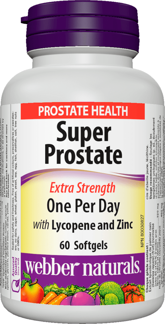 Webber Naturals Super Prostate, Extra Strength, ONE PER DAY FORMULA, 60 Softgels
