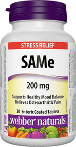 Webber Naturals SAMe Enteric Coated, 200mg, 30 tabs