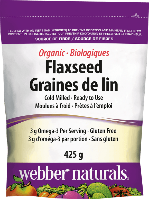 Webber Naturals Cold Milled Ground Flaxseed, 425g